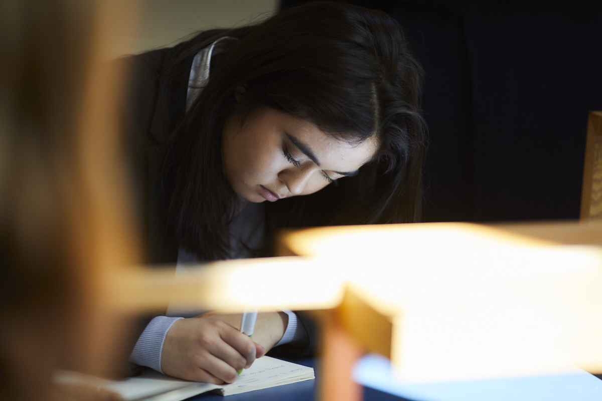 Sixth Form student working
